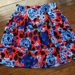 Floral High-Waisted Skirt from Anthropologie